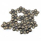 50 piezas 23 mm acabado en bronce envejecido de flor de ciruelo acción mal genio Deco Tack clavos para tapicería clavo Chincheta chinchetas batería cl
