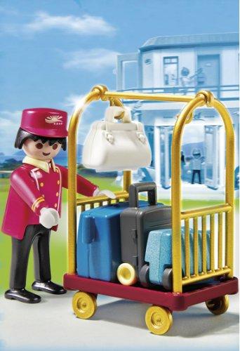 Playmobil Blocks & Building Sets Playmobil Porter With Baggage Cart