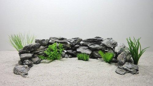 Pro STÜCK 300-600g/Stein Nr.67 Aquarium Deko Natursteine in grau Dekoration Steinrückwand Steine Felsen
