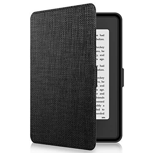 Tsing Funda Kindle Paperwhite de Cuero Sintético Cierre Magnético Ultra Delgado - compatible con de Kindle Paperwhite 1/2/ 3 (NEGRO)