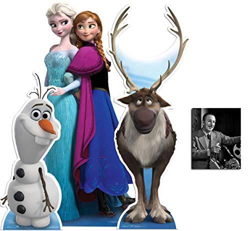 BundleZ-4-FanZ by Starstills Anna und ELSA, Sven und Olaf Frozen Disney Set aus 3 Pappaufsteller Kollektion mit 25cm x 20cm Foto