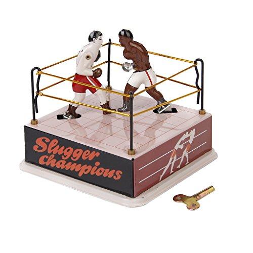 Boxer Blechspielzeug Sammlerstück W / Wind up Schlüssel (Boxer-ring)