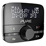 Pure Highway 600 Car DAB Radio Adapter - Bluetooth Hands-free calls - Wireless Music - Spotify Control - Personal Assistant - FM to Digital DAB+