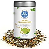 The Moms Co Nourishing Feeds For Breastfeeding Moms, 100% Caffeine Free Herbal Tea For Breastfeeding Milk Support...