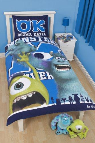 Image of Character World 135 x 200 cm Disney Monsters University Single Panel Duvet Set, Multi-Colour