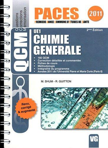 Chimie générale UE1 par Mickaël Shum