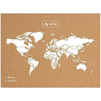 Miss wood map xl cork world map scandanavian 04x60x90 cm white miss wood map xl cork world map scandanavian 04x60x90 cm white gumiabroncs Images