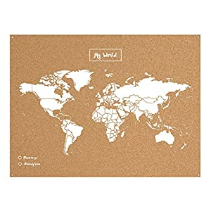 Miss Wood Map XL – Mapa del mundo de corcho