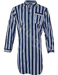 698402769 Clothing Unit Mens Night Shirt Traditional Striped Nightshirt Brushed  Flannel Warm