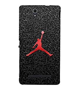 Fuson Premium Back Case Cover Man with football With Multi Background Degined For Sony Xperia C3 Dual D2502::Sony Xperia C3 D2533