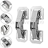 #9: Generic 2Pcs 90 Degree Easy Mount Concealed Kitchen Cabinet Cupboard Sprung Door Hinges(8.2X3.cm)