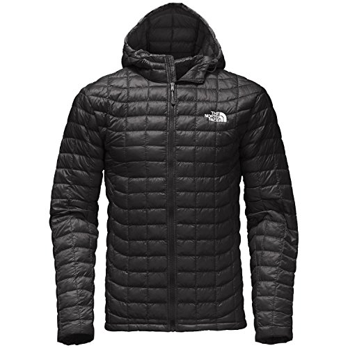 The North Face Men Thermoball Hoodie Black Silver Logo Small North Face Down Coat
