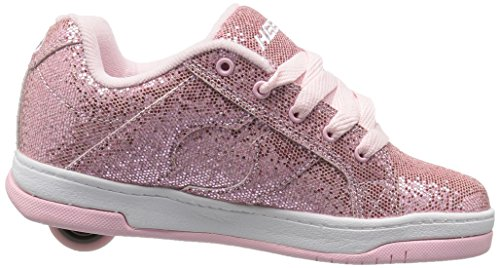 Heelys Split, Sneaker a Collo Basso Bambina Rosa (Light Pink Disco Glitter)