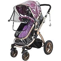 Cochecito de bebé universal para cochecito de bebé, cubierta de lluvia transparente, resistente al agua, paraguas para cochecito de bebé