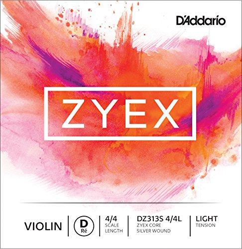 D'Addario Zyex D-Saite für Cello (für Cello in 4/4-Größe, Spannung: light), silberfarben, 1 Stück (Violin-saiten 4 4 Tonica)