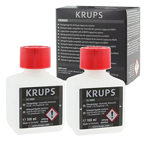 Krups Genuine Coffee Machine Liquid Cleaner (2 x 100ml Bottles)