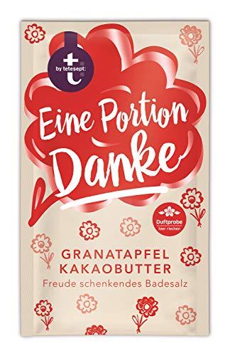 """t: by tetesept Badesalz \""""Eine Portion Danke\"""" - Hauchfeine Puderkristalle mit Granatapfel und Kakaobutter - Bade-Geschenk für die Sinne - 10 x 60 g"""