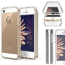 Apple iPhone 5 / 5s / SE Funda URCOVER [ Nueva Versión ] Mejorada Funda Carcasa Apple iPhone 5 / 5s / SE [Completa 360 Grados ] TPU Transparente Crystal Clear Case Móvil Smartphone