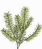artplants Set 12 x Künstlicher Douglas Tannenzweig Tavis, grün, 35 cm - Weihnachtsdeko/Dekozweig