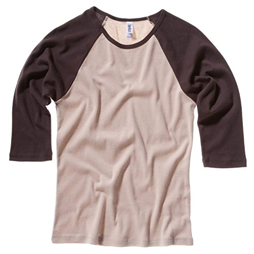 Bella Canvas Baby Rib 3/4 Sleeve Raglan Contrast T-Shirt White/Red
