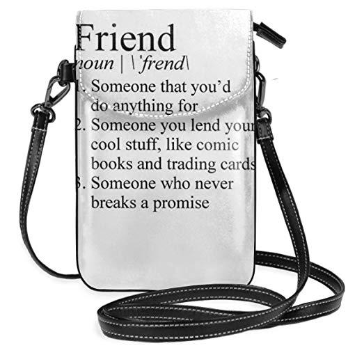 Liliylove Stranger Things Friend-Definition, leicht, kleine Umhängetasche, Handtasche, Geldbörse für Frauen und Mädchen mit praktischer Tragetasche