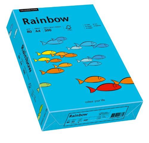 Papyrus 88042739 Drucker-/Kopierpapier farbig: Rainbow  80 g/m², A4 500 Blatt Buntpapier, matt, blau