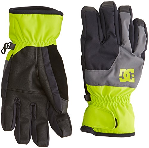 DC Shoes guanti da uomo Seger M Glov ggy0, Uomo, Gloves Seger M GLOV GGY0, Lime acceso, S