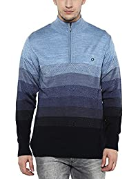 Proline Mens Mao Collar Stripe Sweater