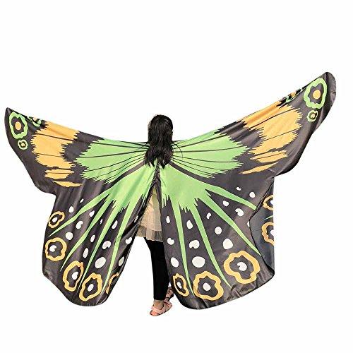 Marlene Kinder Baby Mädchen Tanzzubehör Wasserdichter großer Schmetterlingsflügelschal für ()