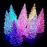 Wildlead Acryl Weihnachtsbaum LED Lichter Discolour Weihnachtslampe für Feiertage Zubehör