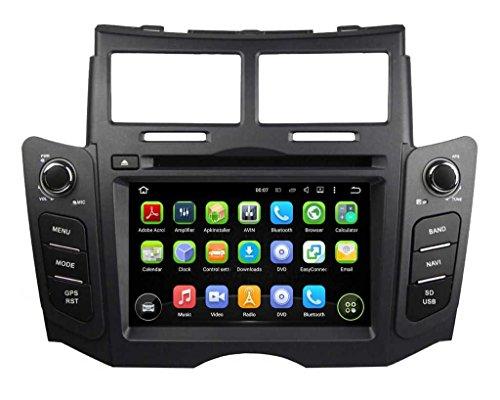 6.2 pollici Android 5.1.1 Lollipop OS Lettore DVD dell'automobile per Toyota Yaris 2005 2006 2007 2008 2009 2011, Quad Core 1.6G Cortex A9 CPU 16G Flash 1G RAM DDR3 800x480 GPS Radio Ingresso Aux OBD2 - Costruito Nel Registratore Cd