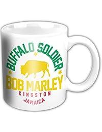 Bob Marley Buffalo Soldier White Mug Official Licensed Music
