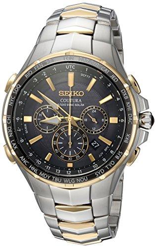 SEIKO COUTURA Herren-Armbanduhr 44MM GEHÄUSE Edelstahl Quarz SSG010 (Uhren Herren Coutura Seiko)