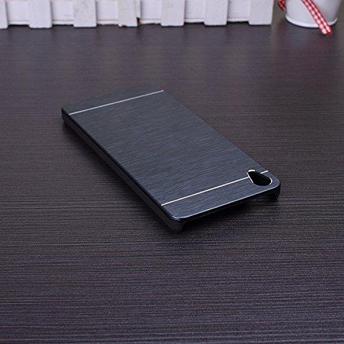 Huawei P8 h¨¹lle, Wkae® Luxus aus geb¨¹rstetem Stahl Metall Zur¨¹ck harte Fallplastikabdeckung f¨¹r Huawei P8 by Diebell(Red) Tiefblau