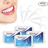 Hilo Dental Cleanstar Seda de dientes 240 piezas Dental Floss Picks para Interdental Oral Limpieza Dientes Limpiar Sticks de Cuidado Bucal