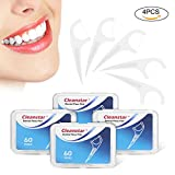 Hilo Dental Cleanstar Seda de dientes 240 piezas Dental Floss Picks para Interdental Oral Limpieza Dientes Limpiar Sticks de Cuidado Bucal