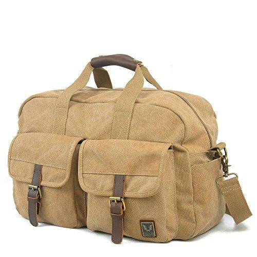 breve borsa da viaggio uomini e donne di grande capacità borsa sportiva borsa borsa di tela di forma fisica dei bagagli , army green , 19 inches Khaki