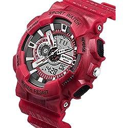 2018 Men Sports Foundation Light Flash Relojes Cronógrafo Military Digital Wrist Relojes a Prueba de Agua