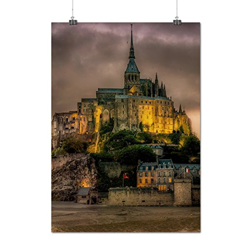 Kostüm Frankreich Weiblich (Frankreich Schloss Mode Bewölkt Himmel Mattes/Glänzende Plakat A3 (42cm x 30cm) |)