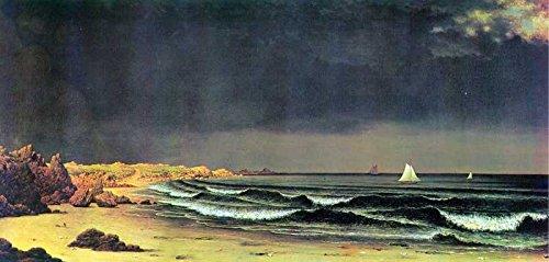 Bay-schlafzimmer-set (Das Museum Outlet-Art Postkarte-Emerging Storm Narragansett-Bay, von Martin Johnson Heade-Set 12Stück Postkarten)