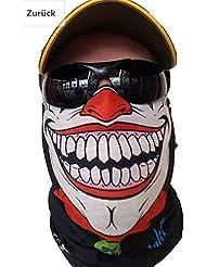 "'""Original Sa Company en provenance des États-Unis Clown Foulard Masque Tuyau rigide Protection contre le froid visage masque Halloween Moto Ski Snowboard chasse pêche Paintball Vélo Moto"