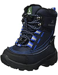 Kamik Unisex-Kinder Valdis Hohe Sneaker, Schwarz (Black-Noir), 24 EU