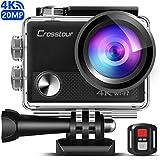 [Version améliorée] Crosstour Caméra Sport 4K Wi-FI 20MP Ultra HD...