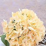 elegantstunning (1 Strauß 5 Köpfe) Mallorca Große Hortensie Blumen, Hochwertig nachgebildet küstlich, Hochzeitsdeko Kunstblume Hochzeitsblume