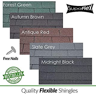 Roofing Felt Shingles | Shed Roof Felt | Square Butt | 4 Tab | Midnight Black