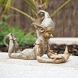 garden mile Lesen der Elfenverzierung für den Garten | Gartendekoration