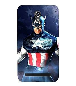 Takkloo warrior ( super hero, men wearing mask, star sign, man with super power, blue mask) Printed Designer Back Case Cover for Asus Zenfone Go ZC500TG (5 Inches)