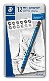 Staedtler Mars Lumograph 100 G12 S. Pack de 12 lápices de dibujo de distinta dureza
