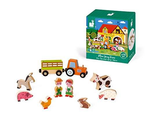 Janod J08514 Mini Story Wooden Game, Farm