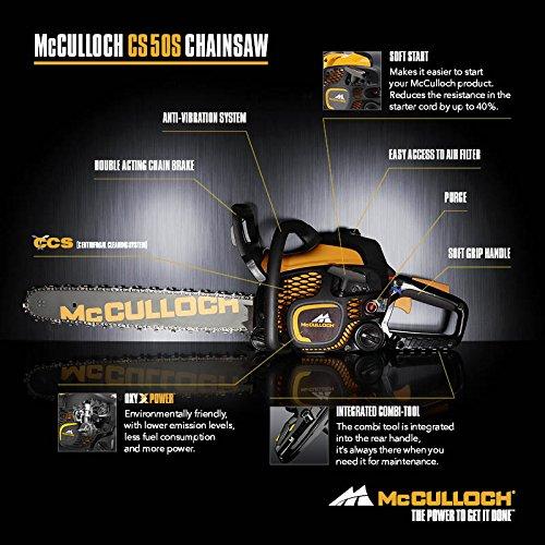 Mcculloch CS 50S Petrol Chainsaw, 50 cc, 18 Inch